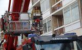 8 augustus Brand in dak van portiek Westerbeanstraat Den Haag
