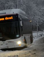 10 december HTM bus raakt van de weg Dokter Atleta Jacobsweg in Den Haag