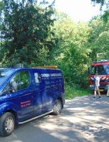 4 juni Brandweer bevrijdt hond die vast zit met poot Bieslandsepad Delft