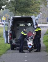 11 september Scooterrijder hard onderuit President Kennedylaan Alphen aan den Rijn