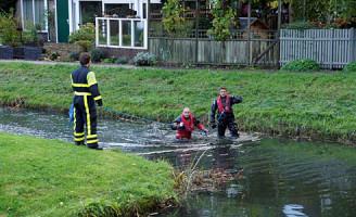 27 oktober Mogelijk persoon te water Santiagopad Delft
