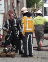 10 juni Grote brand in woning Wolphaertsbocht Rotterdam
