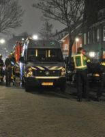11 februari Hulpdiensten druk bezig na incident met vuurwerk Ellekomstraat Den Haag