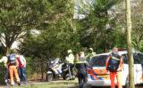 21 maart Traumahelikopter vliegt uit voor een val van een klimrek Buurtweg Wassenaar