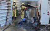 22 juli Schade na flinke containerbrand Nelson Mandelabrug Zoetermeer