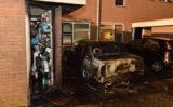 25 juli Brandweer blust auto en schuurtje na brandstichting Astertuin Zoetermeer