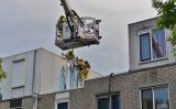 19 juli Brand in gevelbeplating door blikseminslag Marineblauw Zoetermeer