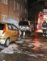 3 oktober Autobrand Langestraat Leiden