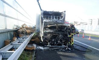 10 oktober Kleine brand in vrachtwagen A44 Oestgeest