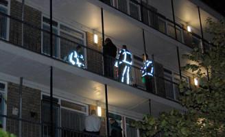 9 oktober Lekke gasleiding in flat Rosveld Rotterdam
