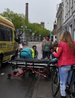3 juni Fietser gewond na val van fiets Leiden