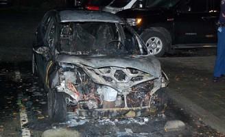 22 oktober Auto vliegt na harde knal in brand Koekoek Hoogvliet