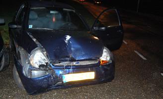 29 oktober Veel schade na aanrijding Groenekruisweg Rotterdam