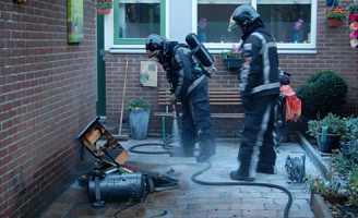 2 november Compressor in Schuur vliegt in brand De Heuvel Poortugaal