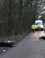 28 januari Scooter rijders gewond Oegstgeesterweg Leiden