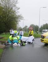 21 mei fietser gereanimeerd na hartaanval