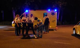 8 augustus Scooterrijder gewond na aanrijding met auto