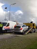 3 februari Aanrijding tussen busje en politiewagen Poeldijkseweg Monster