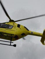 24 april Traumahelikopter vliegt uit voor een medische noodsituatie IJssellaan Gouda