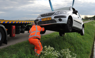2 mei Meerkoet overleden na auto te water Nieuwveen