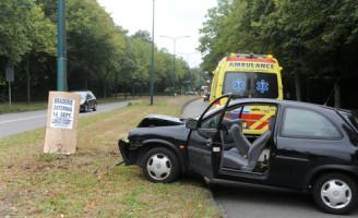 13 september Vrouw raakt in paniek door wesp in auto