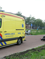 24 september Motorrijder gewond na ongeval Sylviusweg Leiden