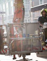 20 april Stuk van geven valt komt naar beneden Grote Marktstraat Den Haag