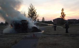 21 juli Hooibalen in brand