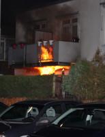 31 januari Flinke brand tegen gevel woningen Antonia Veerstraat Delft