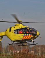 1 november Traumahelikopter rukt uit voor gevallen persoon Simon Carmiggelthof Den Haag
