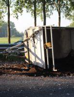 19 juni Flinke file door geschaarde aanhanger A20 Nieuwerkerk a/d IJssel