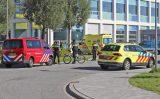 18 september Vrouw gewond door explosie TU Delft Van der Maasweg Delft