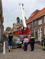 23 september Hulpdiensten rukken uit voor zolderbrand Graswinckelstraat Delft [VIDEO]