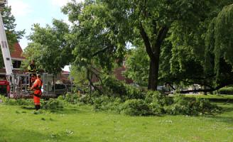 22 mei Brandweer rukt uit voor stormschade Westplantsoen Delft