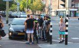 21 juli Tram 16 gestremd door aanrijding tussen twee auto's Jonckbloetplein Den Haag