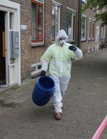 10 juli Gewonde bij incident met gevaarlijke stoffen Burgemeester van der Veldestraat Den Haag