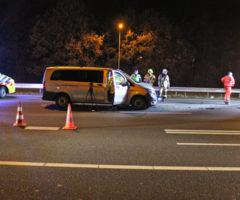 28 november Gewonde bij ongeval op de  A20 Nieuwerkerk a/d Ijssel