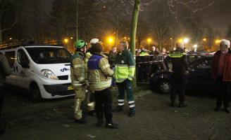 27 december Grote Brand in kelderboxen onder flat Maassluis
