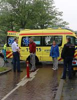 27 mei Scooterrijdster ziet paaltje over het hoofd in Delft