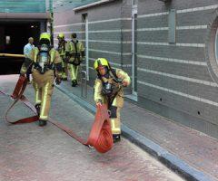 14 augustus Auto in brand in parkeergarage Phoenixstraat Delft