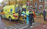 12 november Scooterrijdster onderuit door bladeren Westeinde Delft
