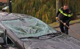 23 november Auto belandt op dak na aanrijding Verrijn Stuartlaan Rijswijk [VIDEO]