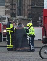 8 november Politie haalt verwarde man van het dak Markt Delft