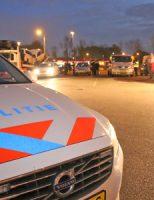20 april Politie houdt grote verkeerscontrole op parkeerplaats Esso Ruyven A13 Delft