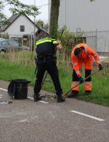 24 april Auto over de kop nadat deze van de weg raakt Dortlaan Naaldwijk [VIDEO]