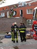 Brand in spouwmuur Londensingel Den Haag