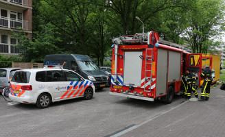 29 mei Brandalarm in woning zorgt voor uitruk brandweer Palmyraplaats Delft