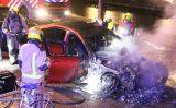 1 oktober Dure Mercedes gaat in vlammen op Boomsluiterskade Den Haag [VIDEO]