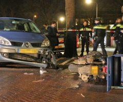 16 januari Opzittende bezorgscooter flink gewond na aanrijding met auto Prof. Telderslaan Delft