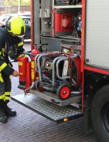 23 april Brandweer rukt uit voor brandende bloempot op balkon Poptahof Zuid Delft
